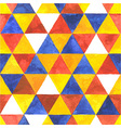 Watercolor triangular seamless pattern vector image