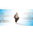 3d infographic template with spiked cone vector image vector image