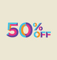 50 percent off sale background vector image