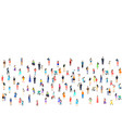 a group people walk and relax with their family vector image vector image