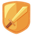 a sword shield logo vector image