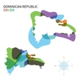 Abstract color map of Dominican Republic vector image vector image