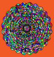 abstract color rosette with ornamemt and figures vector image