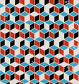Abstract geometric retro background vector image vector image