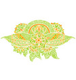 abstract green floral vector image vector image
