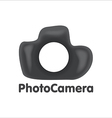 Art logo DSLR photo camera vector image vector image