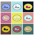assembly flat icons shoe vector image vector image