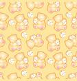 babear yellow pattern vector image vector image