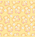 baby bear yellow pattern vector image