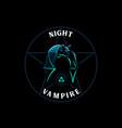 bat flies at night vector image vector image