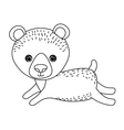 bear cute wildlife icon vector image vector image