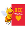 bee be my honey vector image vector image