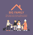 Big Happy Family Parents with Children Father vector image vector image