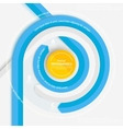 Blue circle ribbon for info graphics vector image vector image