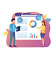 business woman and man presentation business plan vector image