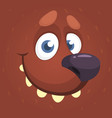 cartoon cute bear face avatar vector image