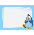 Cartoon Paper Space Penguin vector image vector image