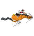 cartoon race horse with jockey vector image