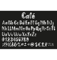 Chalk lating alphabet vector image vector image