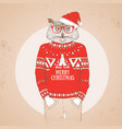 christmas hipster fashion bird owl vector image vector image