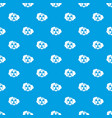 cloud and radioactive sign pattern seamless blue vector image vector image