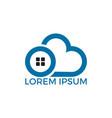 cloud home logo design vector image vector image