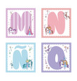 collection of alphabet letters for kids vector image vector image