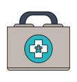 color image cartoon medical veterinary bag vector image