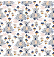 cute koala animal seamless pattern for baby vector image vector image