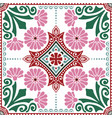 decorative tile pattern design vector image vector image