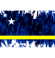 Flag of Curacao vector image vector image