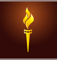 flame logo gold vector image