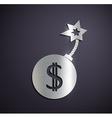 Flat metallic logo dollar sign vector image vector image