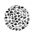 geek icons in circle vector image vector image