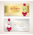 Gift certificates set vector image vector image