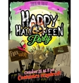 Halloween Zombie Party Poster EPS 10 vector image