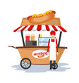 hot dog seller soda in the car vector image