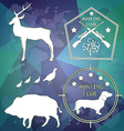Hunting club design elements vector image vector image