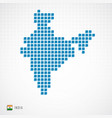 india map and flag icon vector image