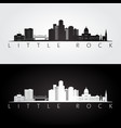little rock usa skyline and landmarks silhouette vector image vector image