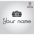 Logo badge emblem or label for photograph vector image vector image
