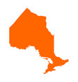 map of ontario vector image vector image