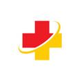 medical icon symbol hospital logo vector image