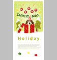 Merry Christmas Greeting banner with dog inside