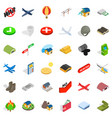 military field icons set isometric style vector image vector image