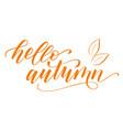 modern brush calligraphy hello autumn vector image vector image