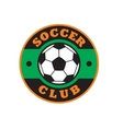 Nice soccer club logo vector image vector image