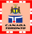 official government elements of canada - toronto vector image vector image