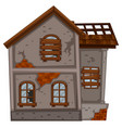 old house with broken windows vector image vector image