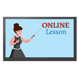 online education design concept with lecturer vector image vector image